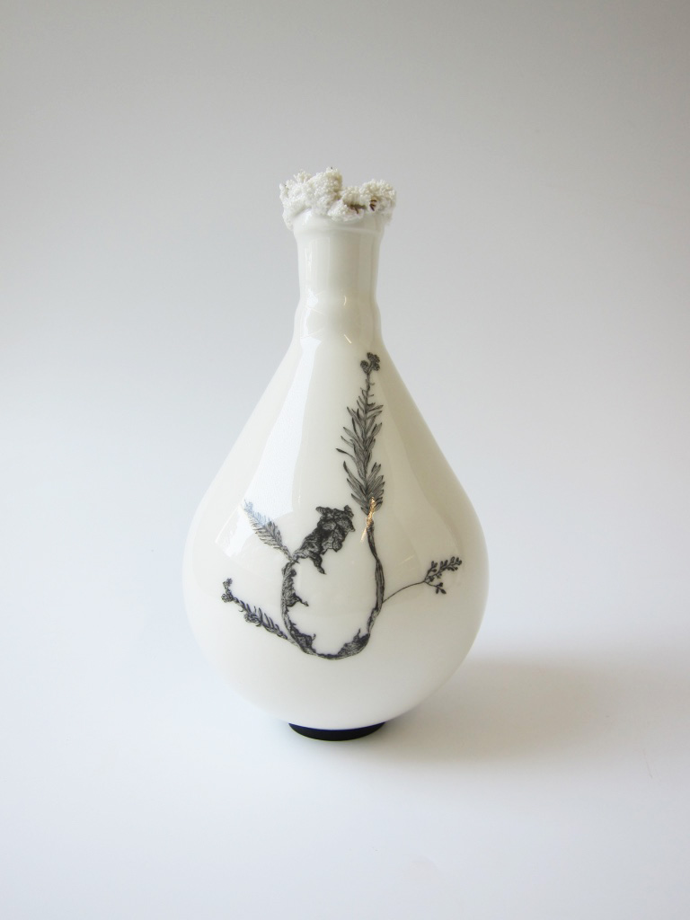 decoration ceramics vase sculptural nature Switzerland plants Anne-Sophie Guerinaud Vevey CEPV