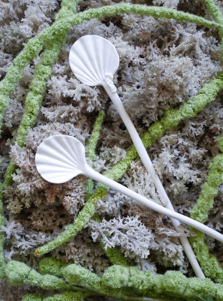 shell porcelain spoons Jam Factory shop Australia Adelaide Anne-Sophie Guerinaud
