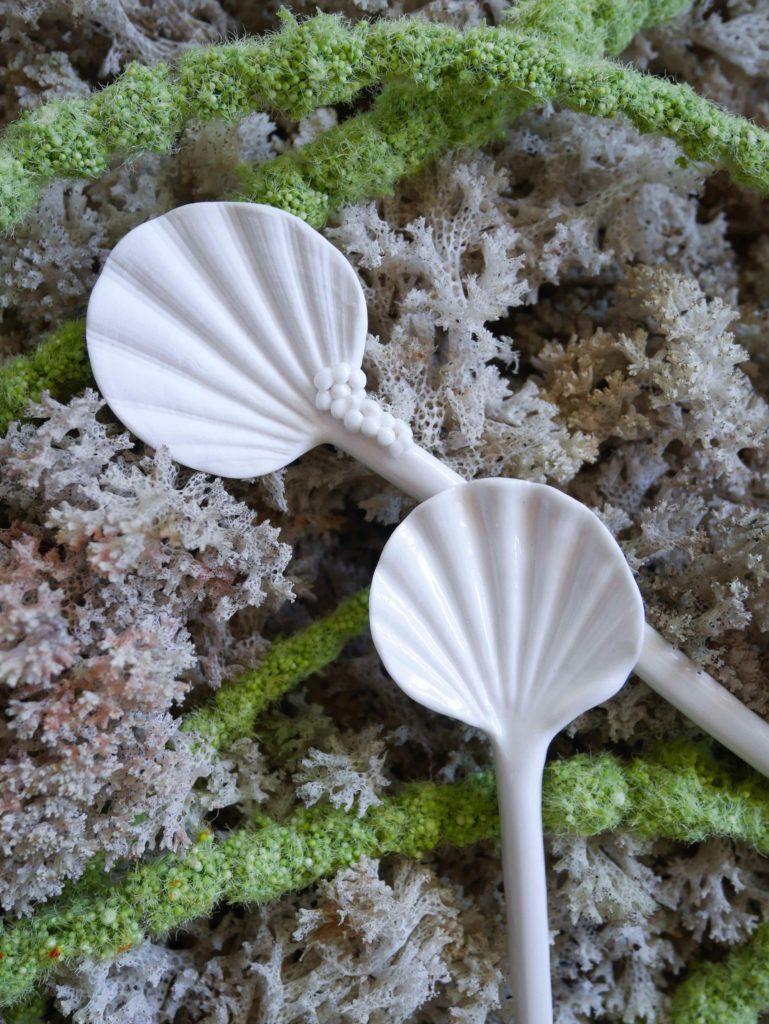 cuttlefish porcelain casting spoons Jam Factory Australia Adelaide Anne-Sophie Guerinaud