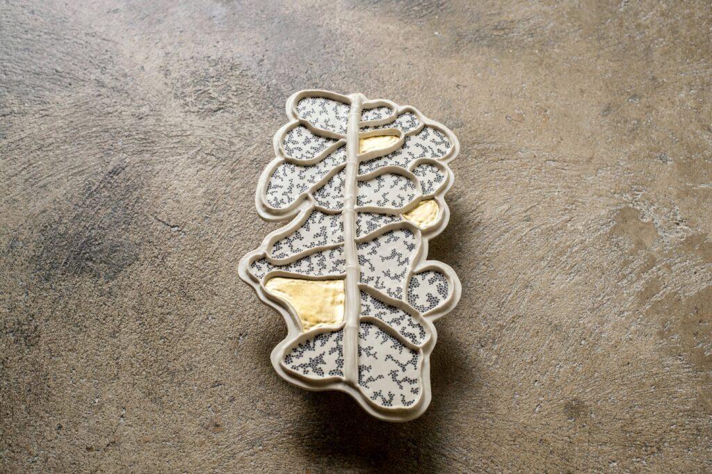 cells golden luster decor ceramics Anne-Sophie Guerinaud Carouge