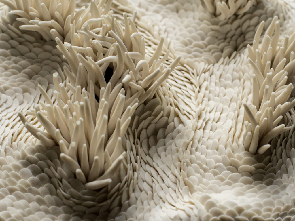 porcelain handmade fishscales details Geneva Anne-Sophie Guerinaud Bruckner Foundation residency program