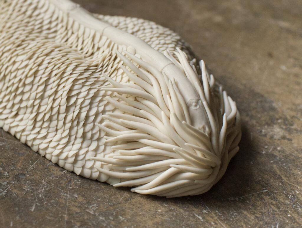 details ceramics modeling fishscales Bruckner Foundation residency Anne-Sophie Guerinaud Carouge