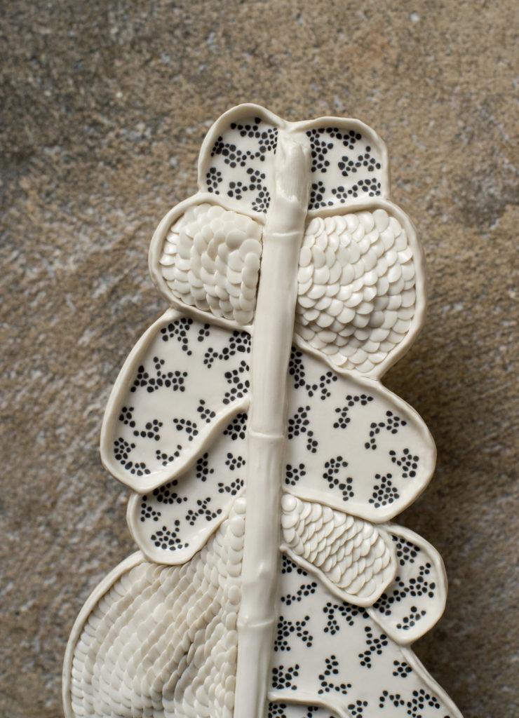 porcelain piece fishscales painting decoration Anne-Sophie Guerinaud Bruckner Foundation Geneva